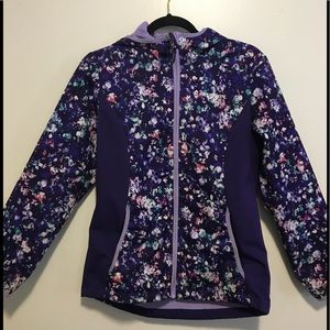 Free Country Girls Purple Floral Coat Size 10